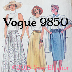 Vogue 9850 Skirt Part 1
