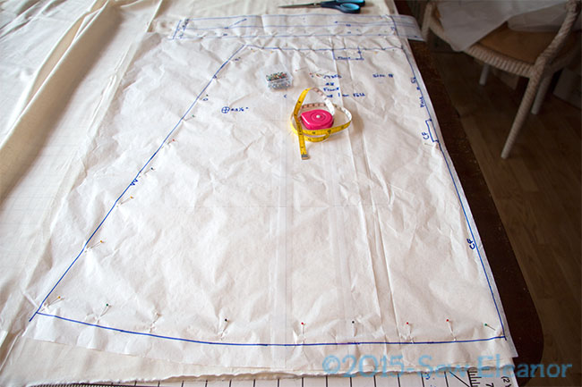 Laying Out Muslin For Cutting