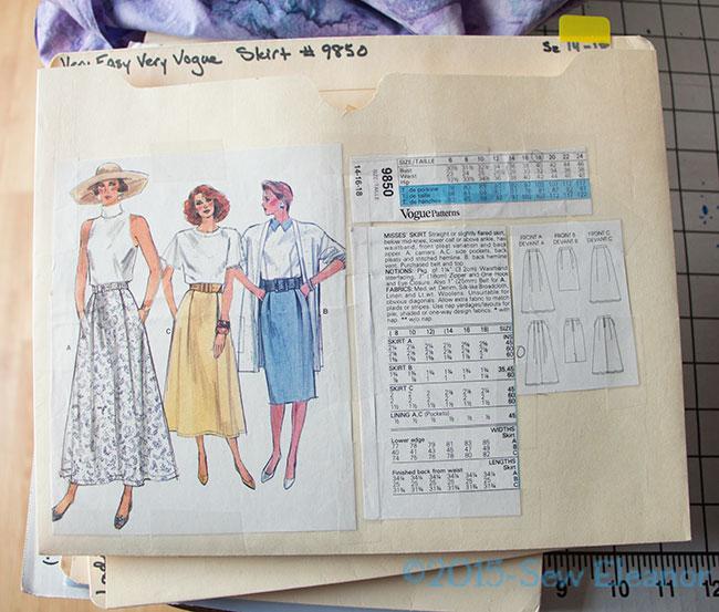 Vogue 9850 Pattern In File Folder