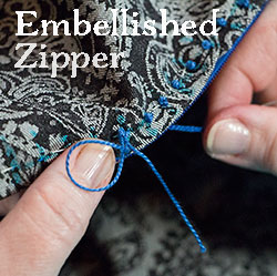 Embellished Invisible Zipper
