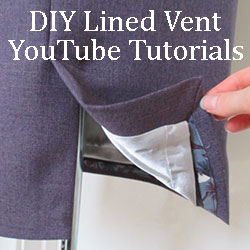 YouTube Sleeve and Skirt Vent Tutorials