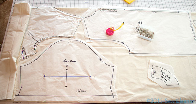 Laying Out A Pattern For Fitting With Muslin Fabric