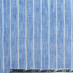 Emma One Sock blue/white stripe linen woven shirting #47305