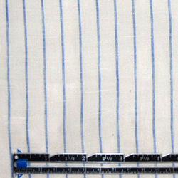 Emma One Sock white/blue stripe linen woven shirting #45924